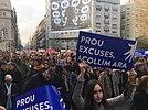 """La protesta """"Volem acollir"""" (""""Vogliamo dare il benvenuto"""") si è svolta a Barcellona il 18 febbraio 2017 ed è diventata la più grande manifestazione a favore dei rifugiati in Europa"""