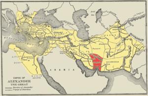 Alexandria Carmania - Image: Map alexander empire Carmania