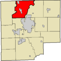 Map highlighting German Township, Bartholomew County, Indiana.png
