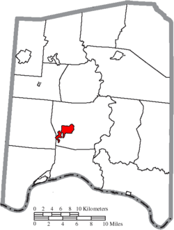 Location of West Union in Adams County
