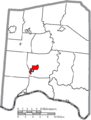 Map of Adams County Ohio Highlighting West Union Village.png