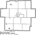 Map of Carroll County Ohio Highlighting Leesville Village.png
