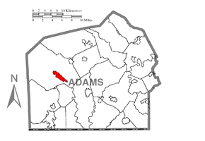 Map of Cashtown-McKnightstown, Adams County, Pennsylvania Highlighted.png