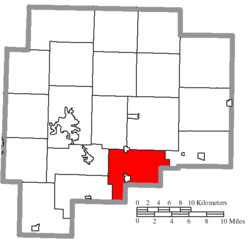 Location of Richland Township in Guernsey County