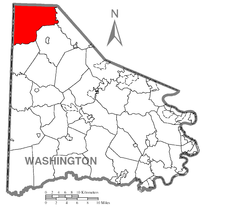 Map of Hanover Township, Washington County, Pennsylvania Highlighted.png