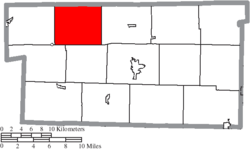 Location of Ripley Township in Holmes County