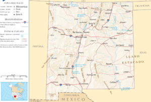 Outline of New Mexico - An enlargeable map of the State of New Mexico