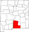 State map highlighting Otero County