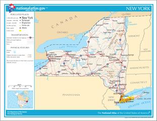 Landkarte von New York (Bundesstaat)