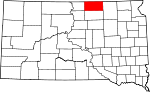 State map highlighting McPherson County