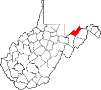 Locatie van Mineral County in West Virginia