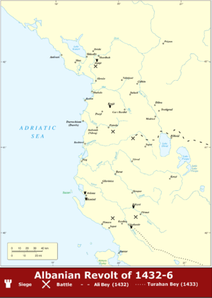 Map of the military activities during the Albanian Revolt of 1432-1436.png