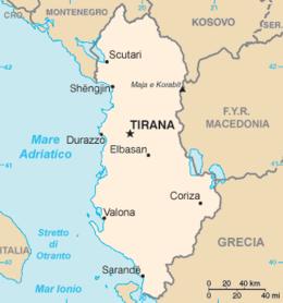 Albania - Mappa