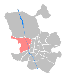 Location of Moncloa-Aravaca