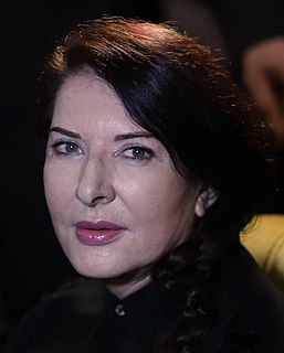 Marina Abramović Serbian performance artist