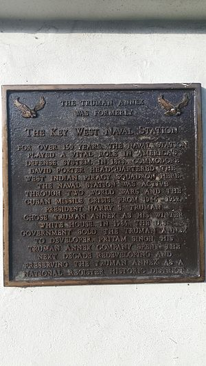 Naval Air Station Key West - Marker for the Truman Annex, Key West Naval Station