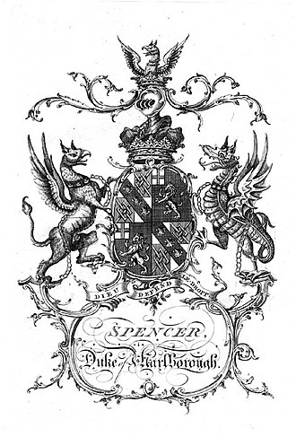 Duke of Marlborough (title) - Image: Marlborough Coat Of Arms