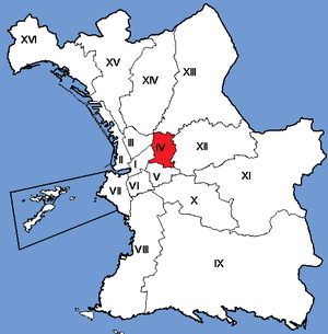 4th arrondissement of Marseille - Image: Marseille Arrondissements 04