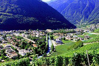 Martigny - Image: Martigny, ville romaine et moderne, Martigny Bourg