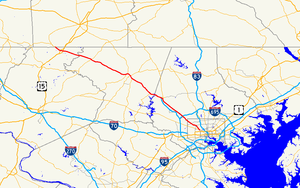 Maryland Route 140 - Image: Maryland Route 140 map