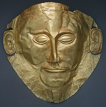 "Funeral mask also known as ""Agamemnon Mask"". G..."