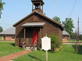 Luray, Virginia - The Massanutten School, a restored one-room schoolhouse in downtown Luray
