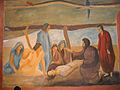 Maurice Le Scouezec Saint Roch guérit les pestiférés (fresque chapelle Saint-Roch à Pont d'Ouilly).jpg