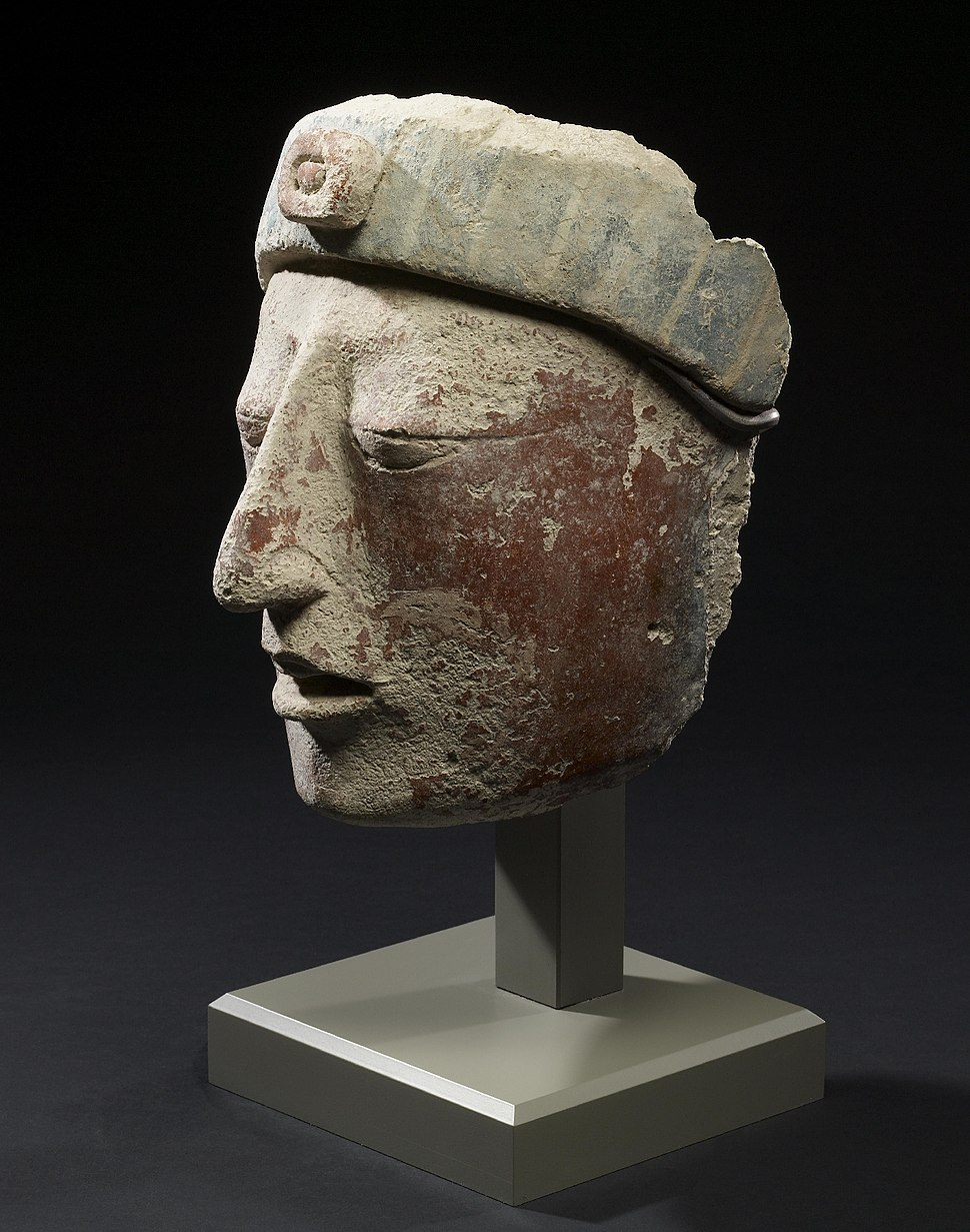 Mayan - Stucco Portrait Head - Walters 20092046 - View A