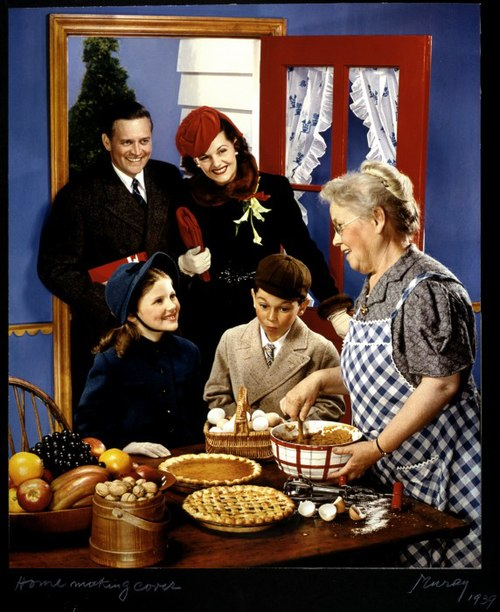 McCall's magazine cover, family arriving in the kitchen for the holidays.jpg