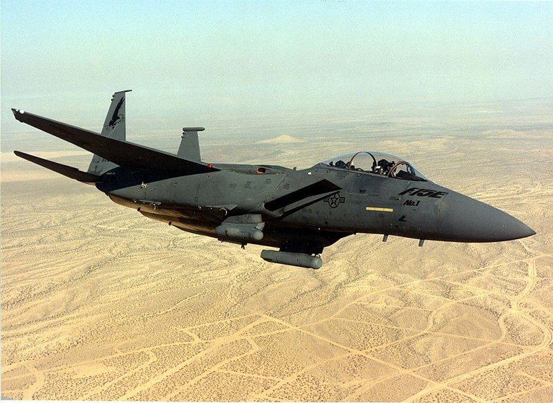 File:McDonnell Douglas F-15E First production F-15E (SN 86-0183) in flight 060905-F-1234S-026.jpg