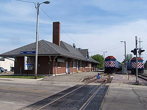 McHenry, Illinois - McHenry Metra Station