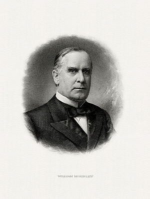 BEP engraved portrait of McKinley as President