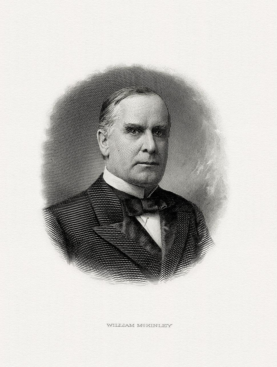 McKINLEY, William-President (BEP engraved portrait)