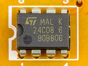I²C - STMicroelectronics 24C08: Serial EEPROM with I²C bus