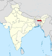 Meghalaya in India (disputed hatched).svg
