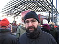 Mehmet Kaplan, Green Party, at demonstration against Swedish migration policy in Stockholm.JPG