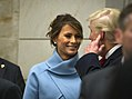 Melania and Donald Trump smile at each other during the 58th Presidential Inauguration, Jan. 20, 2017.jpg