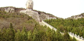 Mengshan Giant Buddha - Image: Mengshan Giant Buddha, Taiyuan
