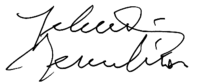 Firma de Yehudi Menuhin