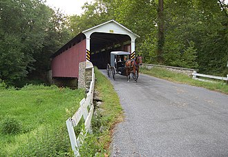 National Register of Historic Places listings in Chester County, Pennsylvania - Mercer's Mill Covered Bridge, Southern