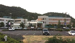 Roseburg, Oregon - Mercy Medical Center, a 178-bed hospital.  Mercy is the 2nd largest employer in the town of Roseburg.