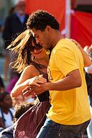 Merengue dancing