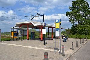 Beesd railway station - The simple station building.
