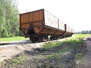 Solotchinskoye peat narrow-gauge railway - Image: Mesherskoye peat enterprise 3