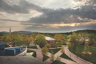 Messiah College - Photo of the Messiah College campus taken from above Kline Hall in the Fall of 2016