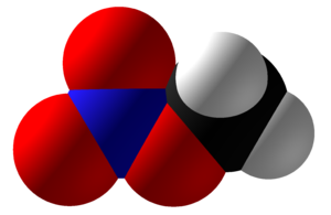 Methyl nitrate - Image: Methyl Nitrate Space Fill