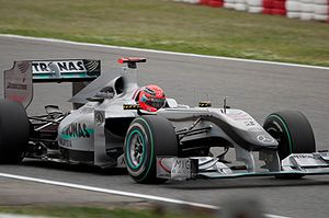 Michael Schumacher driving for Mercedes GP at ...