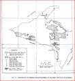 Michigan's Upper Peninsula's Distribution of Exposed Crystalline Rocks.PNG