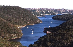 Bantry Bay (New South Wales) - Bantry Bay seen from the bluff at the northern end of the bay.