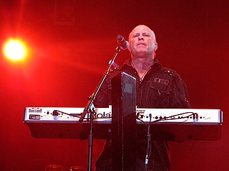 A Flock of Seagulls - Lead singer Mike Score performing in 2011